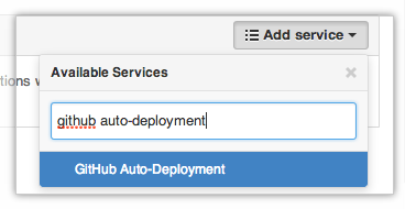 Adding the GitHub Auto-Deployment service
