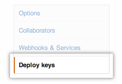 Deploy Keys section