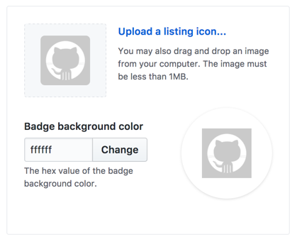 Button to upload icon