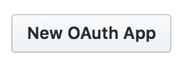 Button to create a new OAuth app