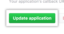 Button to update the application